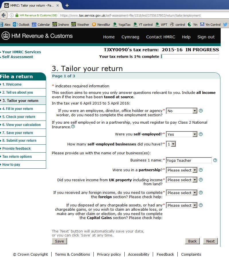 Filing a Self Assessment Tax Return - YogaTax